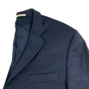 Burberry London 3 Button Navy Blazer